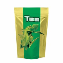 Foil Lined Stand Up Tea Coffee Paper Pouch / bag With Zipper
