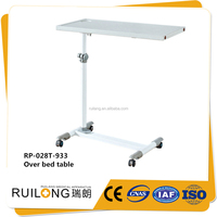 Wholesale Height Adjustable Moveable Hospital Overbed Table