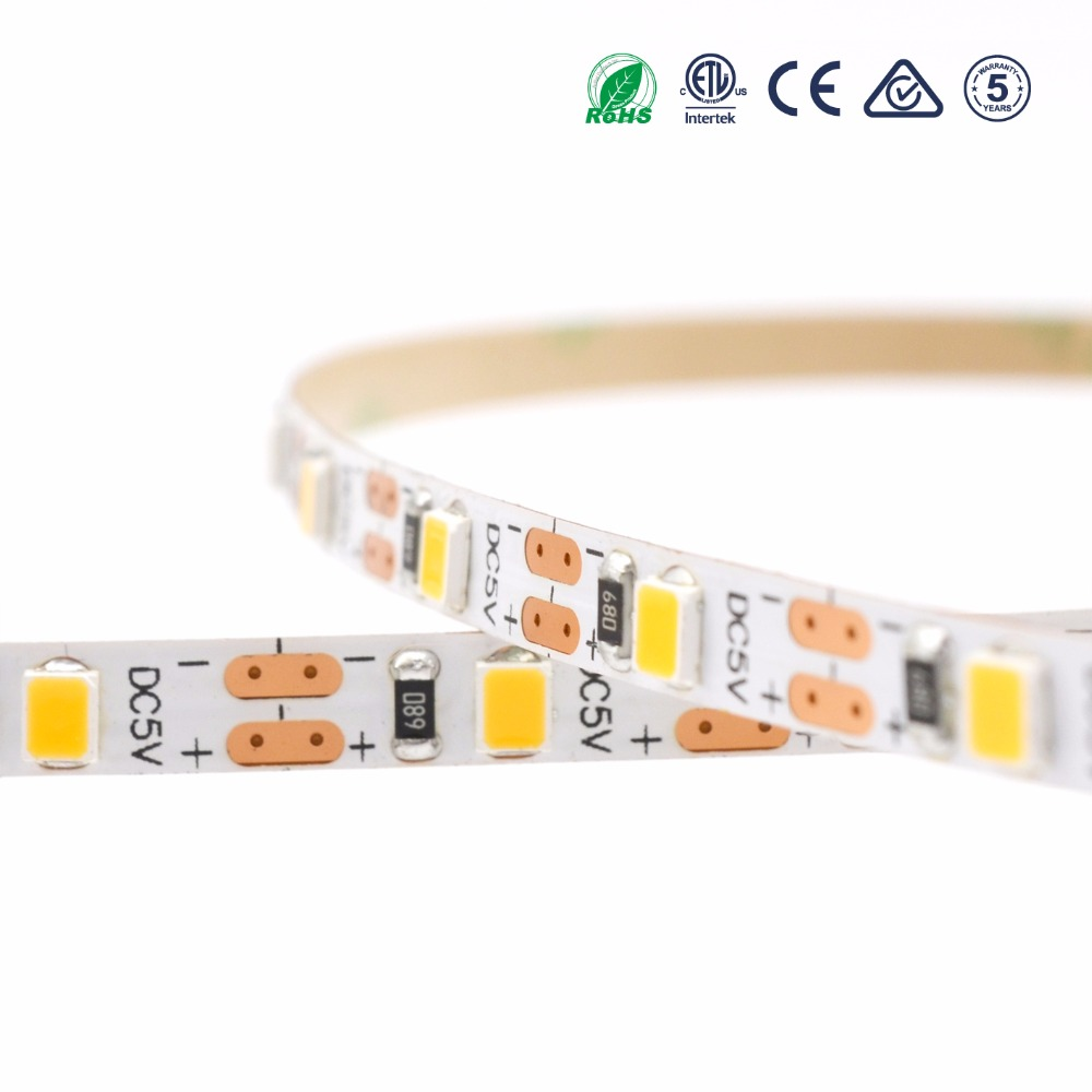 2018 New ultra thin led rope lights SMD 2835 60leds/m 5v micro led flexible strip