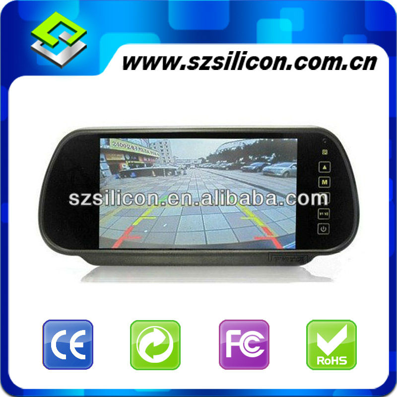 "7"" color LCD car rearview monitor with LED backlight"