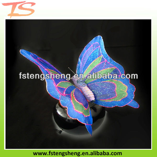Printed fiber optic butterfly light Christmas decoration led lighting