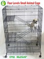 Haierc Best Seller Foldable Cat Cagewith Plastic Trays and Four Levels -CT52