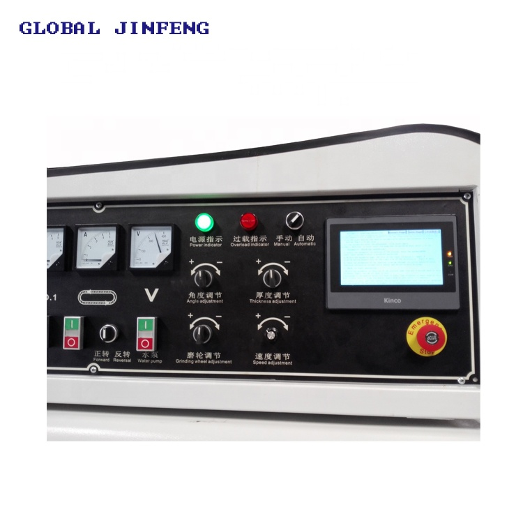 JFE-371SJ  25mm Glass straight line  bevel edge grinding machine for small glass