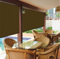 Manually operated blackout roller blind