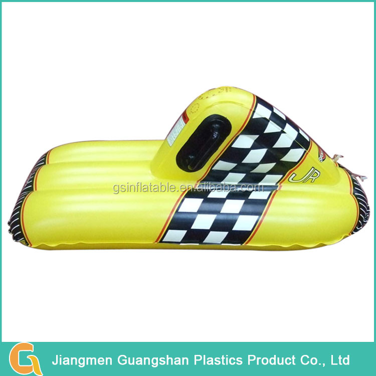 Fashion chinese plastic inflatable snowmobile sled