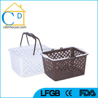 Plastic Hand Carry Supermarket Grocery Shopping Basket