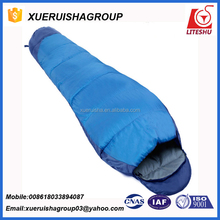 EN tested -15 degree extreme cold weather hollow fiber mummy sleeping bag