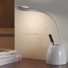 Portable Cordless Gooseneck LED Desk Lamp with Pen Holder and 1200mAh Rechargeable Battery