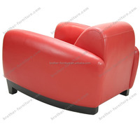 Genuine Leather modern Living Room Sofas Bugatti chair red armchair replica