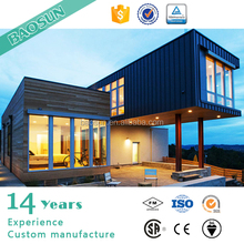 prefabricated black glass modular house made in china