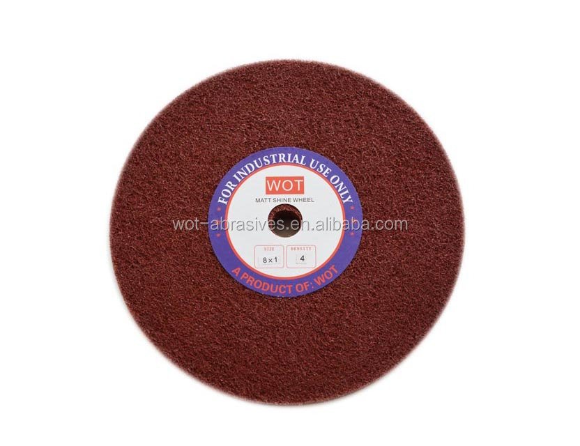 China Manufacture Abrasive Non Woven Nylon Buffing Polishing Wheel For Polishing Stainless Steel