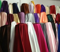 polyester fabric satin 50DX75D spandex satin print fabric