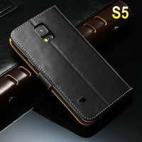 Factory Supplier for samsung s5 colored smart cover 12 colors wallet case