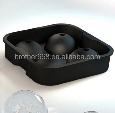 "2"" Round Ice Silicone 4 Sphere Round Ball Mini Bar Cocktail Cube Mold high Quality"