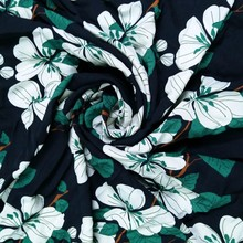 Wholesale 100%poly floral printed silk chiffon Fabric for Women Dress