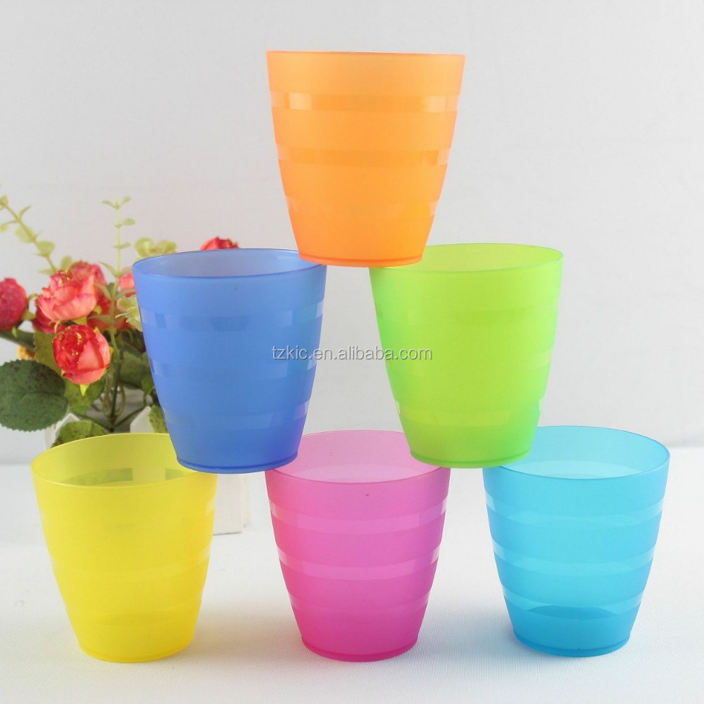mini colorful and plastic drinking cups PP material