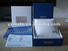 New product 2012 luxury paper cardboard Blue color high quality FS Seiko diver watch box. wrist watch packaging box