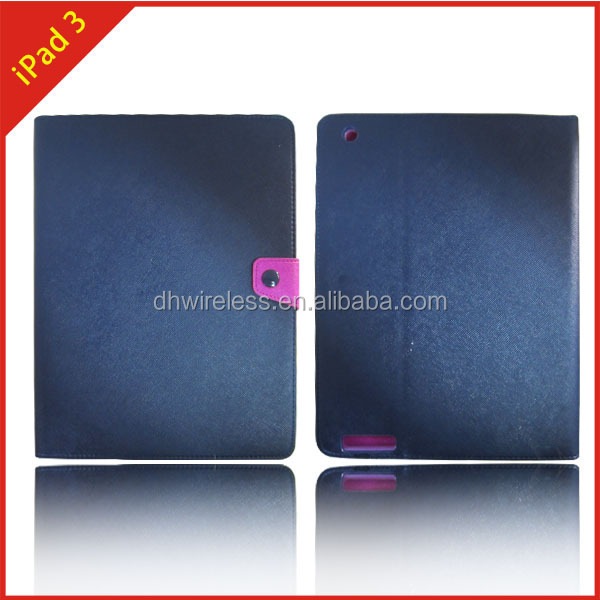 China manufacturer cases for ipad 3,flip leather book case cover for ipad3