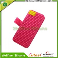 Custom new products block silicone phone case for phone6