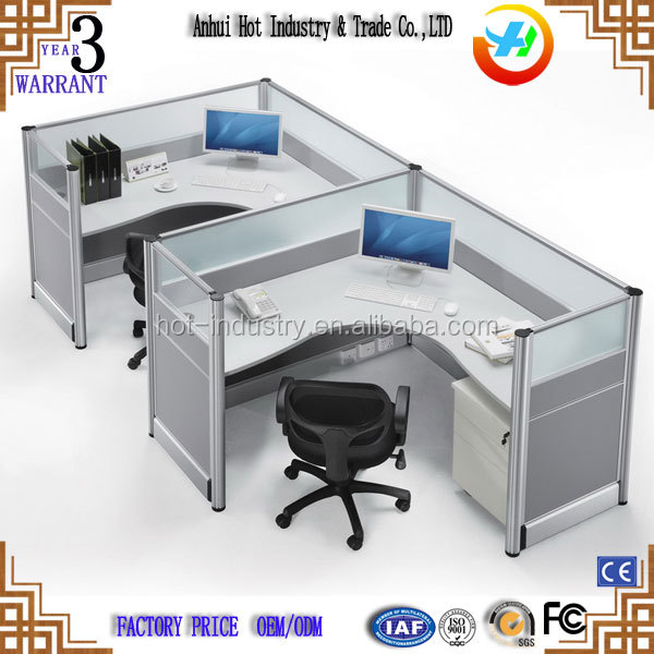 Office furniture 2 person office partition workstation for small office with aluminum frame