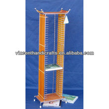 Handicrafts Storage rake Country woven bamboo and wire VCD rake CD holder