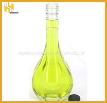 Latest design Drop shape 500ml olive oil glass bottle