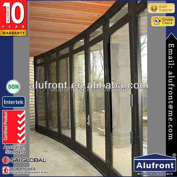 thermal breakAluminum door and window manufacturing aluminum glass bi-folding metal door
