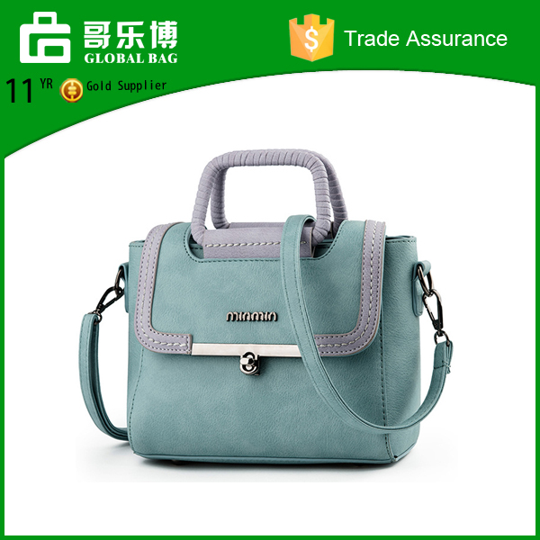Fashion custom logo leather hand bag women shoulder bags wholesale