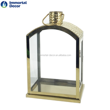 Large glass stainless steel lantern handcrafts