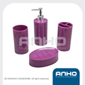 Attractive in price and quality round plastic bathroom set