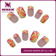 High quality nai art artificial tips adhensive tapes false nail tips for finger