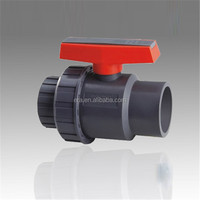Factory supply UPVC valve, PVC Single Union Ball Valves, Socket or Thread for PVC Fittings PN10, PN16