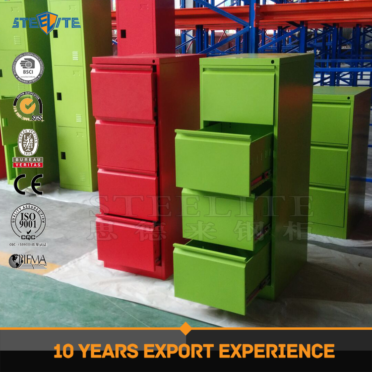 office furniture four drawer cabinet / colorful safe metal cabinet/office equipment