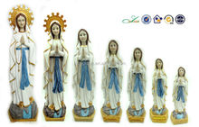 resin figurine in different size our lady of LOURDES religious souvenir