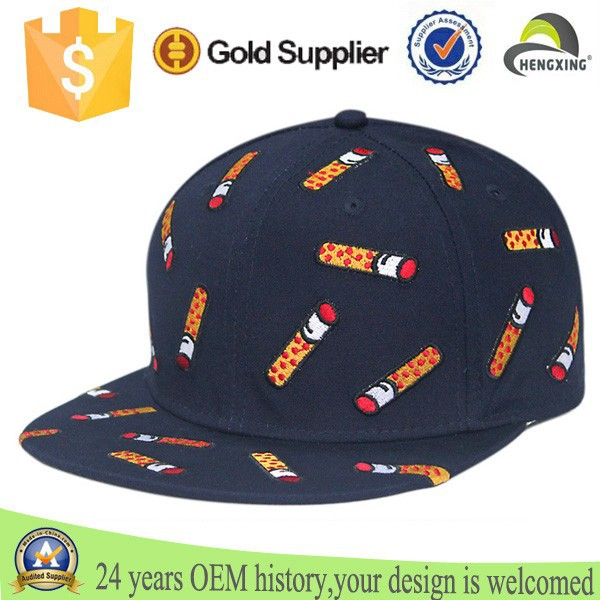 colorful embroidery smoke short brim snapback hats navy blue