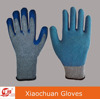 10 Gauge Blue Latex Coating Cotton Knit Anti Slip Safety Gloves