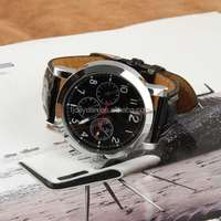 Classic Style Fashion Leather Mens Quqrtz Watches