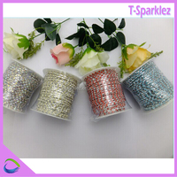 rhinestone crystal cup chain to decorative cloth