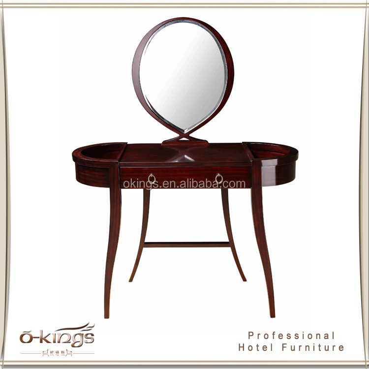 Dressing Table Design With Mirror Wood hotel room Furniture