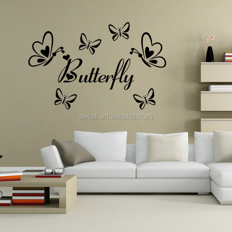 9386 Butterfly Wall Stickers Heart Dragonfly Kid Room Wall Art Home