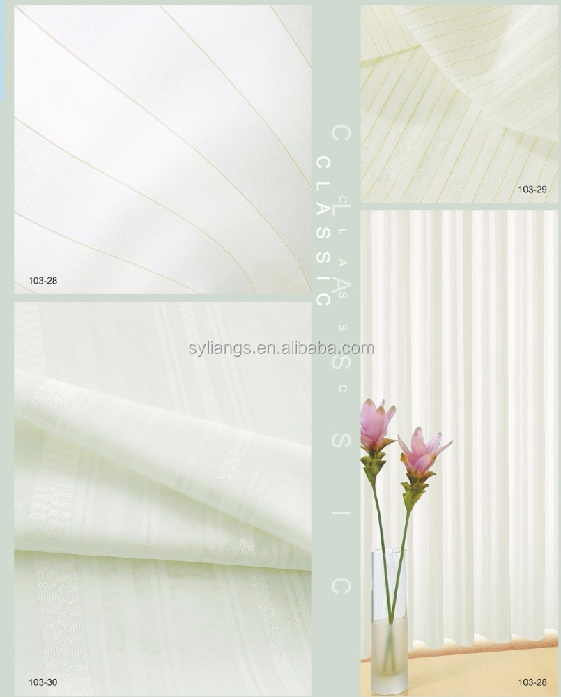 Flame-Retardant Sheer Curtain 103-28~103-30(6/8)