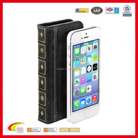 2016 Best-selling! book style leather case for iphone5, for iphone 5 case oem factory