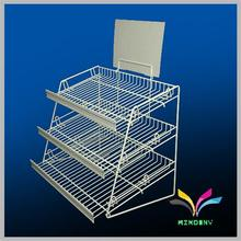 shop white metal wire candy nuts counter display stand