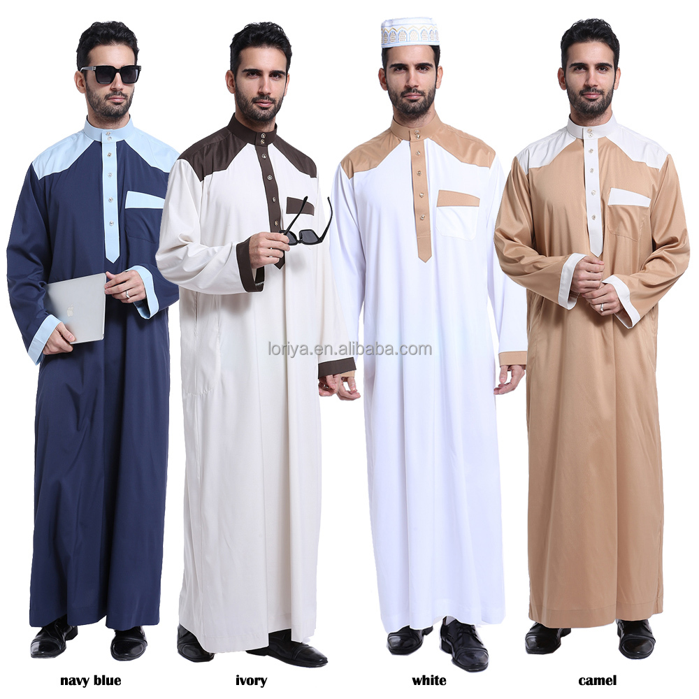 New models abaya in dubai men's muslim dress high quality arab best price kaftan jubah abaya for men