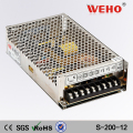 WEHO China manufacturer power supply 200w 12v 16.7a ac to dc 110/220V
