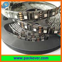 IP65 black PCB 60LEDs/m 60pixels/m RGB LPD8806 LED strip
