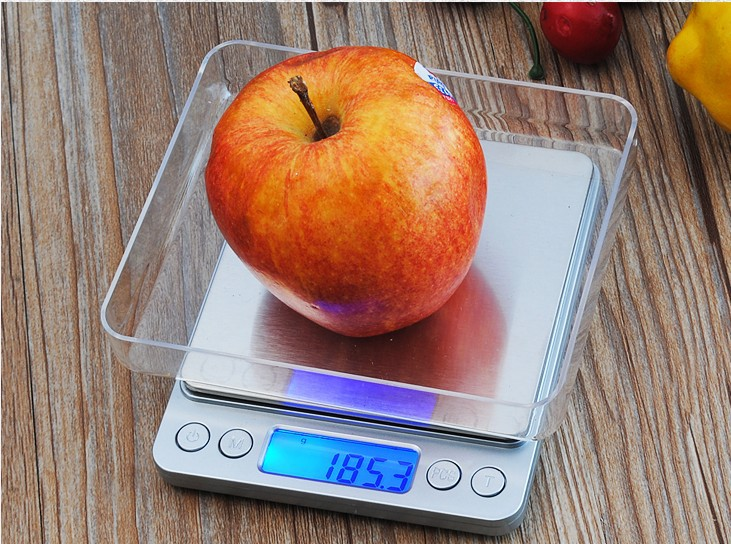 Smart Weigh Digital Pro Pocket Scale with Back-Lit LCD Display, Silver 2000x0.1g 3000x0.1g