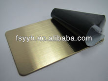 gold hairline finish color stainless steel decoration
