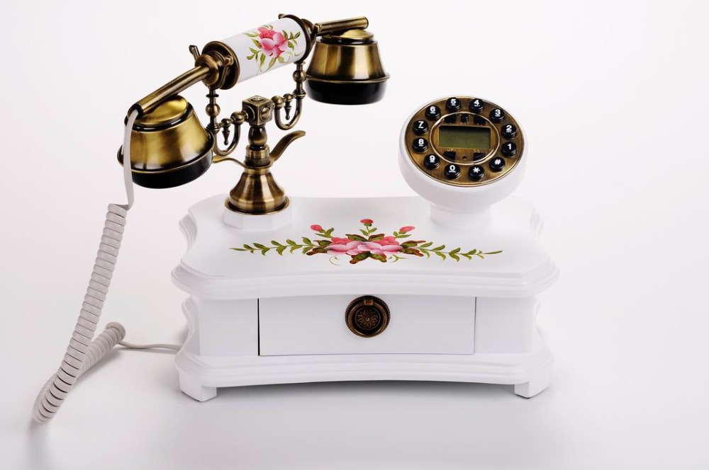 Wood table /desk old phones Antique telephone for sale