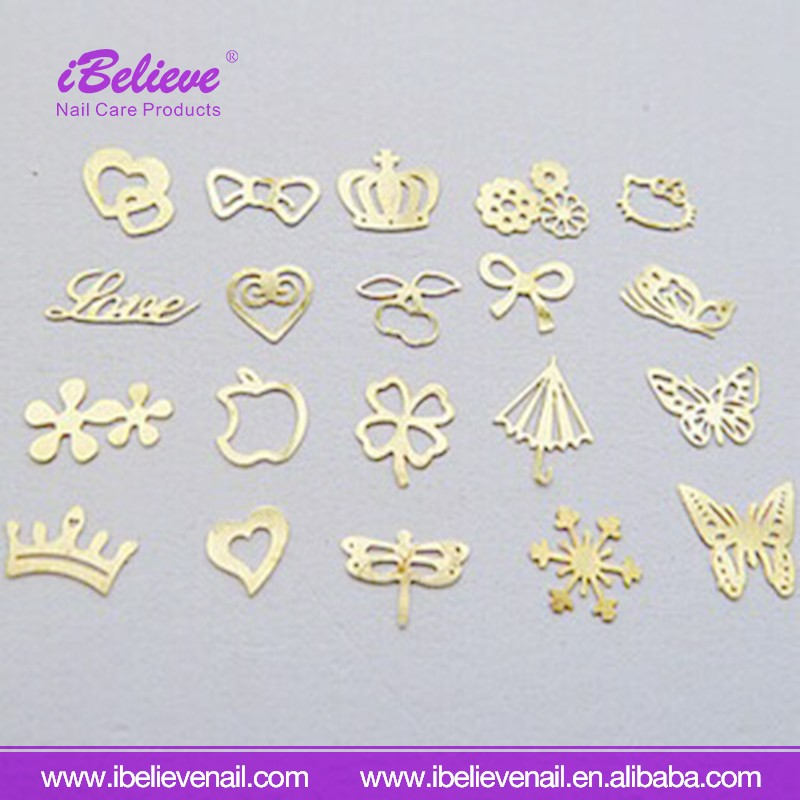 Beautiful Manicure Products Mixed Design Gold Nail Art Decorate Tools Nail Sticker